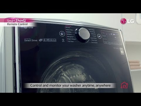 How to LG connect/operate LG Front Loading Washing Machine with LG Smart ThinQ App