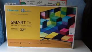 Unboxing Hisense H32BE5500 80 cm (32 Zoll) Fernseher (HD, Triple Tuner, Smart-TV) [Energieklasse A+]