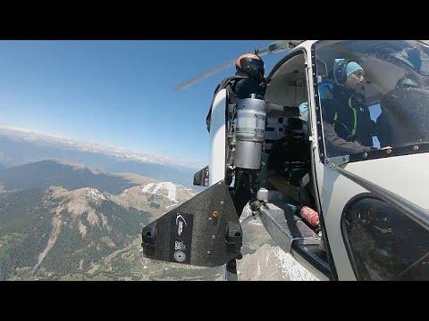 Jetman über Südtirol