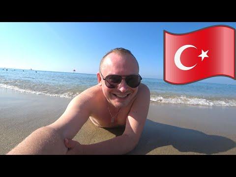 """#3.Аланья. Бегу на пляж Клеопатра, Средиземное море 🌊 Цены в супермаркете """"БИМ"""" (BIM): жить можно!🍖"""