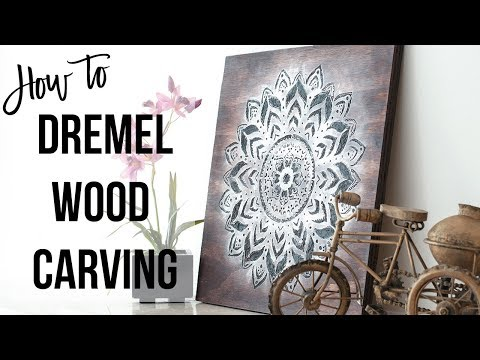 Dremel Wood Carving – How to make a Mandala Wall Art