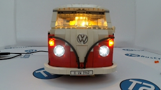 LED Light kit Install in the Lego Volkswagen T1 Camper 10220
