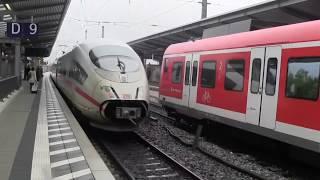 preview picture of video 'München-Pasing 26.05.2013 mit ICEs, ALEX, Güterzug und Nahverkehr'