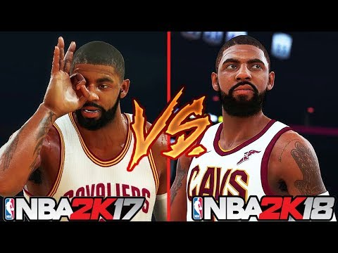 NBA 2K18 vs NBA 2K17 Player Ratings Ft. Stephen Curry, Kyrie Irving, Kevin Durant...etc