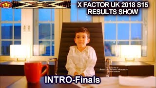 INTRO Eric Cowell as the New Boss | Simon with son & Finalists | Final Results Show X Factor UK 2018