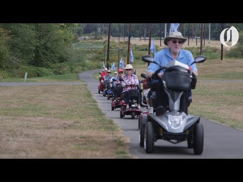 97-year-old former WWII P-51 fighter pilot leads weekly Scooter Club