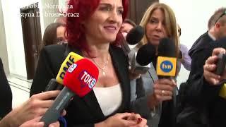 Ostatni wywiad Krynickiej w starej kadencji.