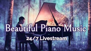 Beautiful Piano Music LIVE 24/7: Instrumental Music for Relaxation, Study, Stress Relief
