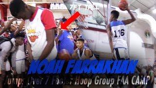 Noah Farrakhan Jumps over a 7 footer at Hoop Group's FAA Camp!! Camp Highlights