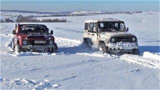 Один на один в снежном поле. УАЗ против Нивы