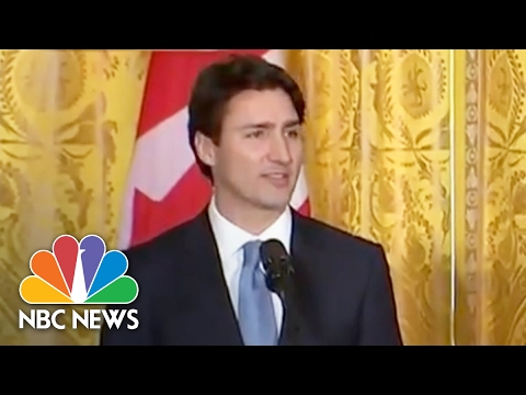 Canadian PM Acknowledges Policy Differences, But Refuses To 'Lecture' President Trump | NBC News