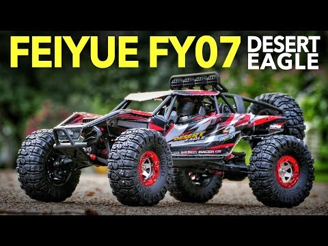 4wd Feiyue FY07 Desert Eagle 1/12 Scale RC Rock Racer - Unboxing, Speed Test & Bashing