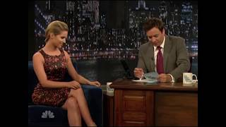 Dianna Agron   Jimmy Fallon Vs David Letterman