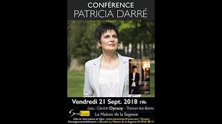 Patricia Darré   21.09.18   Conférence Thonon Les Bains