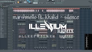 Marshmello ft. Khalid - Silence (Illenium Remix) (Slleepwalker Remake) Fl Studio