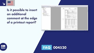 FAQ 004520 | Is it possible to insert an additional comment at the edge of a printout report?