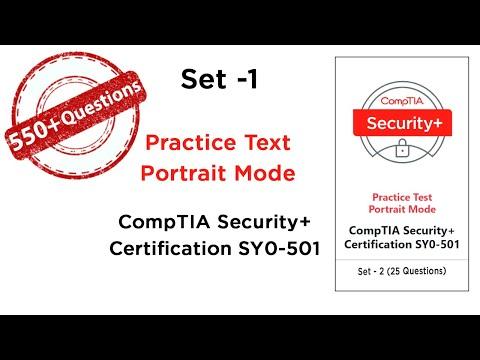 Set-1 CompTIA Security+(SY0 501), Practice Test, Portrait Mode