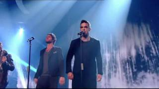 Take That's 1st TV performance re-united with Robbie Williams - X Factor 2010