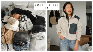 BEST SWEATERS | TRYING ON ALL MY SWEATERS