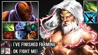 SUPER CARRY ZEUS vs 1000 XPM Anti Mage Crazy Teamwork Late Game Battle Rage Quit Epic Dota 2