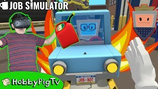 Virtual Reality Auto Mechanic Job Simulator Video Game! HobbyPigTV