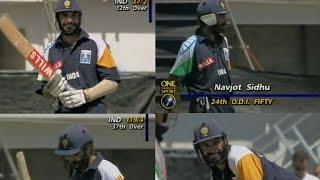 *Rare* Navjot Singh Sidhu 73 Knock vs New Zealand   Napier ,1995