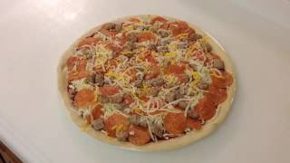 Papa Murphy's take and bake on the Blackstone Pizza Grill