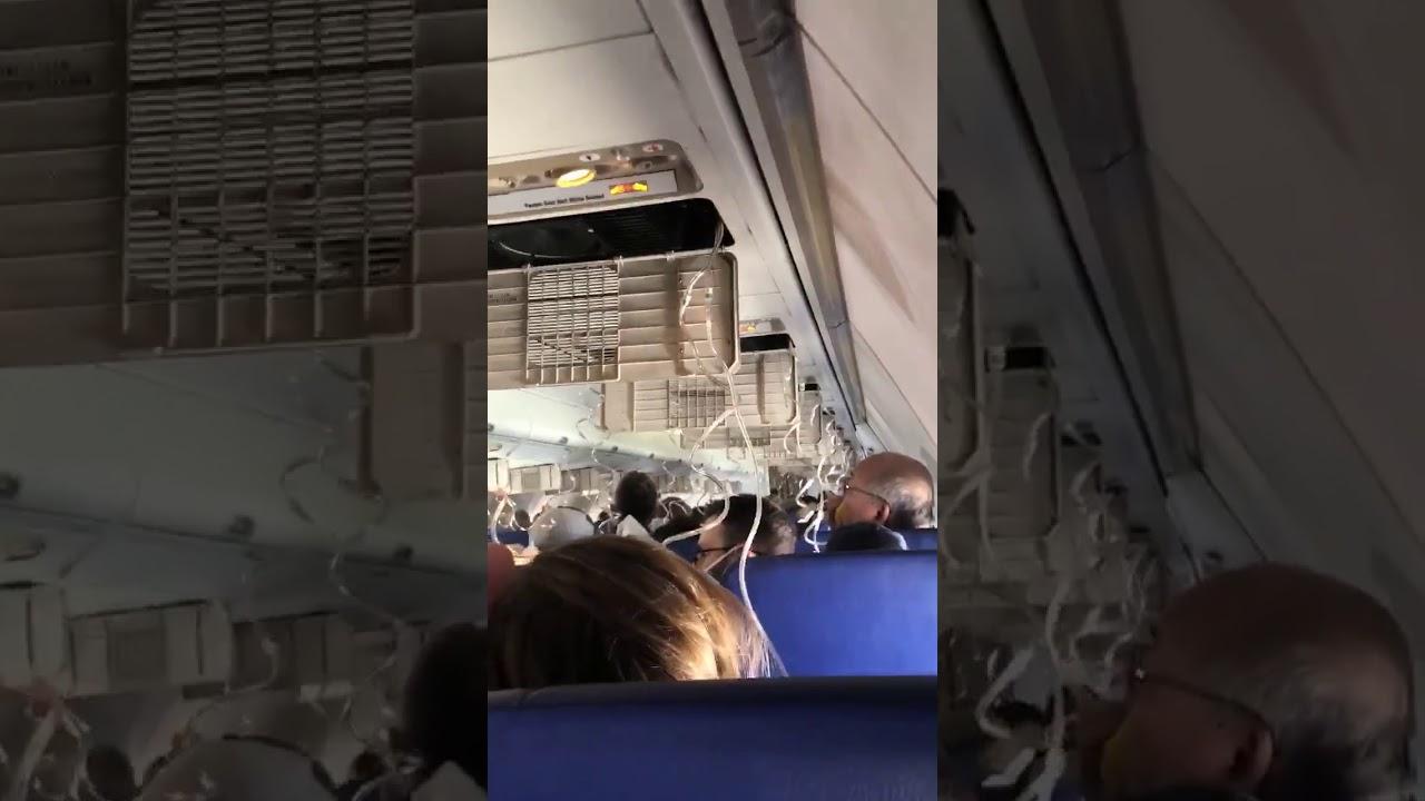 Взрыв двигателя самолета на рейсе 1380 Southwest Airlines  Нью-Йорка - Даллас