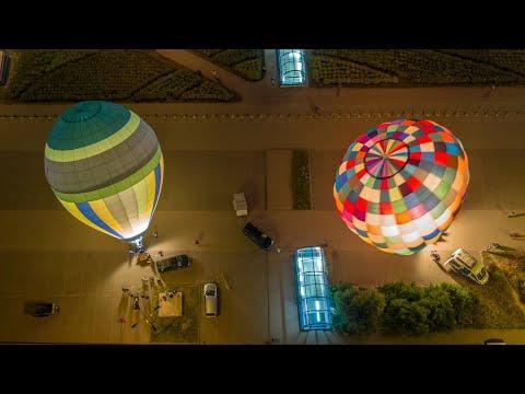 Wideo1: Leszczyniacy przelecieli balonami nad Warszawą