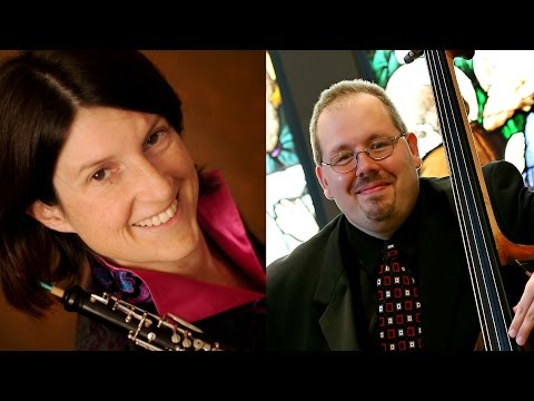 Jenet Ingle & Phillip Serna Perform the Canzone Vecchione for Oboe, English Horn & Double Bass (2005) by Adrian Mann (b.1949)