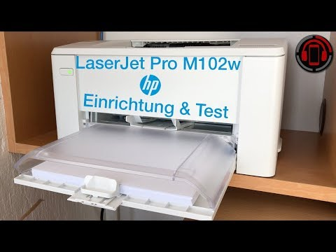 HP LaserJet Pro M102w - AirPrint Laserdrucker im Test [Deutsch/German]