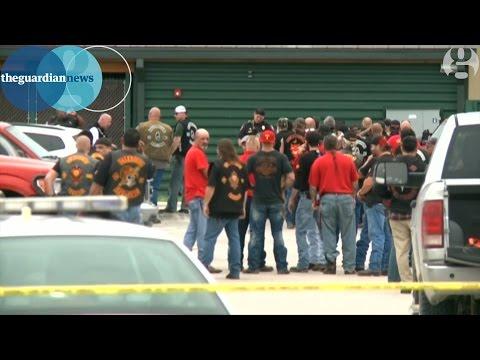 Texas biker gangs' gunfight leaves nine dead, say police – video