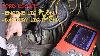 Ford Escape - Engine Light & Battery Light On