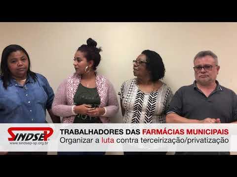 Trabalhadores das Farmácias Municipais em luta contra as privatizações