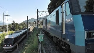 大迫力!貨物列車の山岳スイッチバック 篠ノ井線姨捨駅Vol.2
