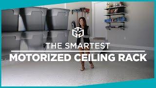 The Smartest Motorized Ceiling Rack | Garage Storage Lift By Gorgeous Garage