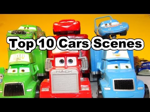 The Top 10 List Of Lightning McQueen Cars From Scenes In Pixar Cars The Movie