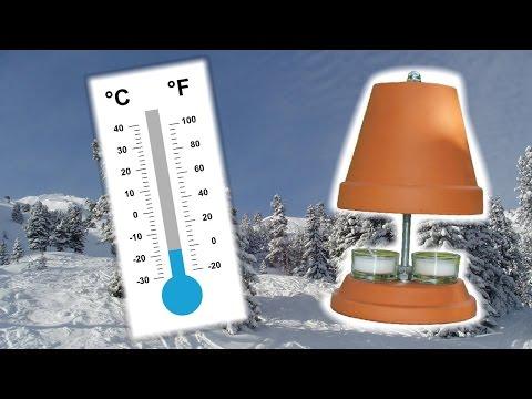 Teelichtofen als Notheizung? (autarke Wärmequelle) - Wärme bei Stromausfall - Arcitic Outbreak