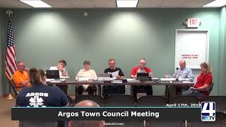 Argos Town Council Meeting - 4-17-19