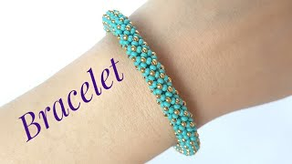 Tubular Chenille Stitch/Flat Chenille Stitch/Beaded Bracelet/Diy Bracelet/Браслет/Жгут из бисера