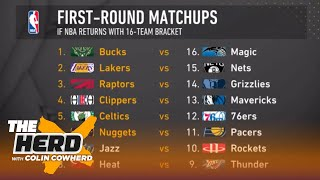 Colin Cowherd fills out a potential 16-team NBA playoff bracket | THE HERD