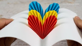 3D Pop Up Heart Card | DIY Valentine Day Cards | Handmade Cards | Paper Craft Ideas