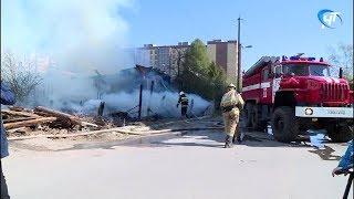 На улице Маловишерская произошел крупный пожар