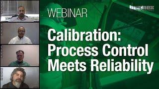 El control del proceso de calibración se une al seminario web de confiabilidad