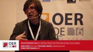 Infrastruktur für OER in Deutschland? – OER-Fachforum 2016 – #OERde16