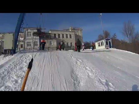 Видео: Видео горнолыжного курорта Ленинские горки СРК в Ульяновская область