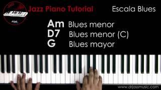 DRJASSMUSIC Jazz Piano Tutorial - Escala Blues (Español)