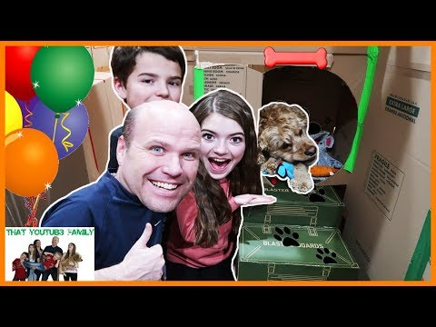 Box Fort Dog Mansion📦🐶/ That YouTub3 Family