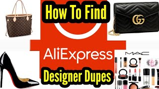 How To Find Designer Dupes On Aliexpress|Handbags|Makeup|Shoes|Clothes