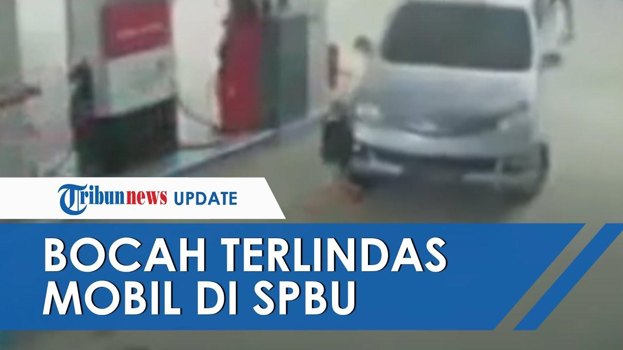 Viral Video Detik-detik Bocah Terlindas Mobil di Pom Bensin, Orangtua Lalai Awasi Anak saat Isi BBM